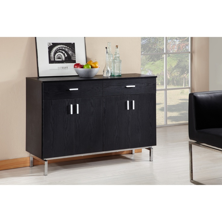 furniture of america mason black finish buffet dining server