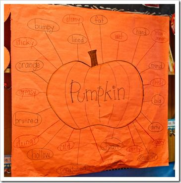 Really cute activities to do with pumpkins (math, language, writing) around Halloween!