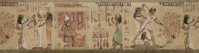 EGYPTIAN WALLPAPER BORDER
