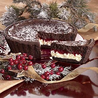 Raspberry And Dark Chocolate Cheesecake Recipe — Dishmaps