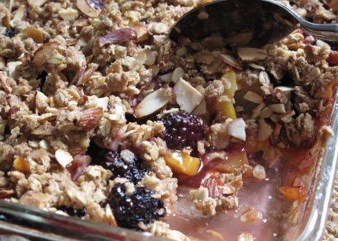 nectarine blackberry crumble - had a similar nectarine cherry crisp at ...