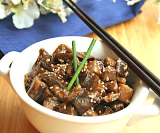 sesame chicken and eggplant recipes dishmaps sticky sesame chicken ...