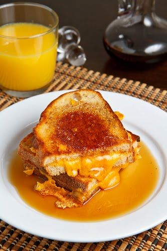 Breakfast Grilled Cheese Sandwich with Maple Syrup | Recipe