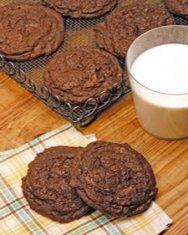 flourless double chocolate pecan cookies