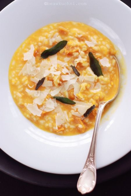 baked pumpkin and sage risotto | Foods and Drinks | Pinterest