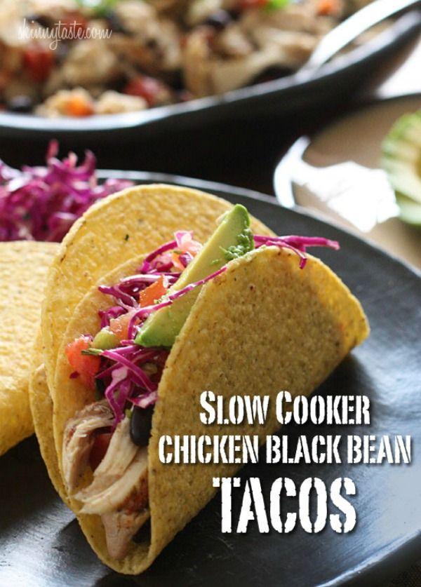 Slow Cooker Chicken & Black Bean Tacos from Skinnytaste ...
