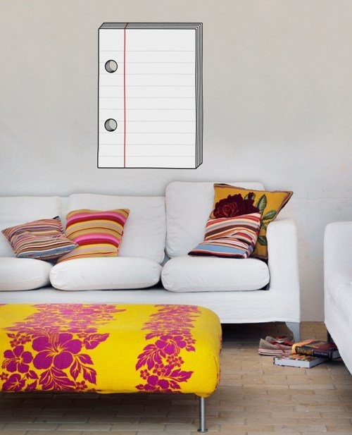 Doodle Giant Notepad Wall Sticker by Stitch designworks: Comew with a black dry erase marker. #Memo_Sticker #Notepad_Sticker