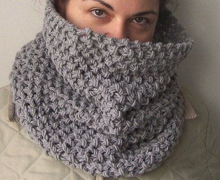 Knitting Pattern PDF for scarf - Beginner DIY Unisex Chunky Tube Scarf