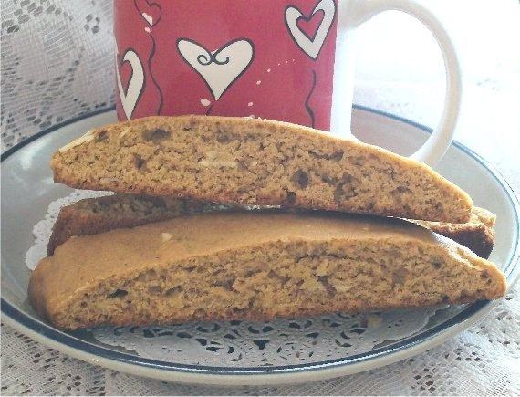 Mocha Honey Almond Biscotti Italian Biscotti by AriseSweets