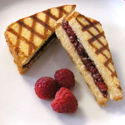 Grilled Pound Cake Sandwiches with Chocolate-Hazelnut Spread from ...