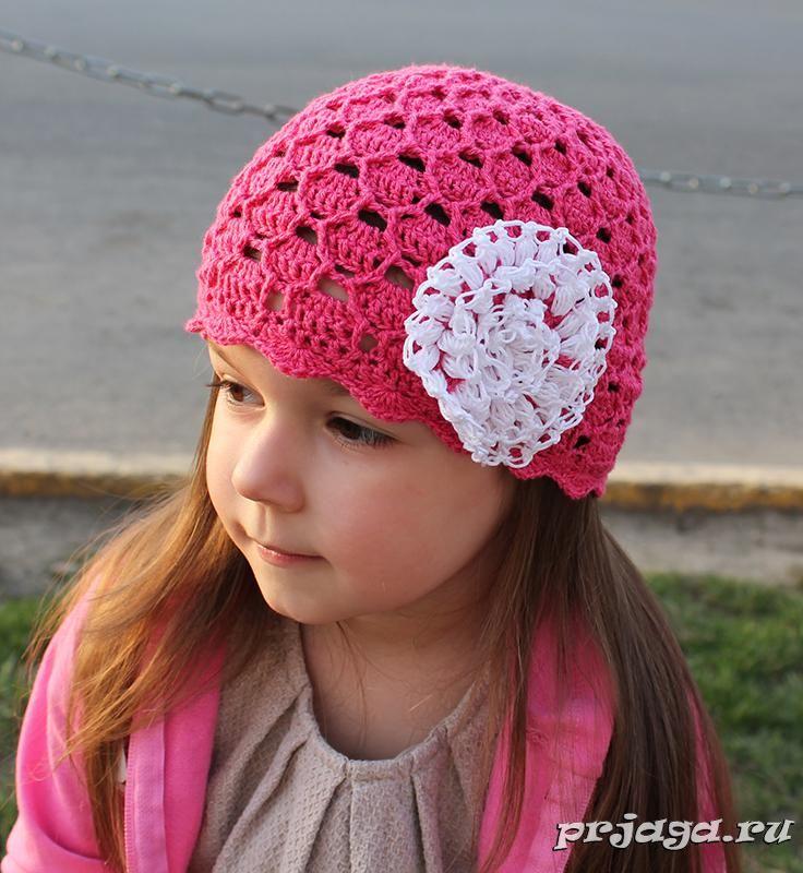Вязанье шапочки летние для девочки