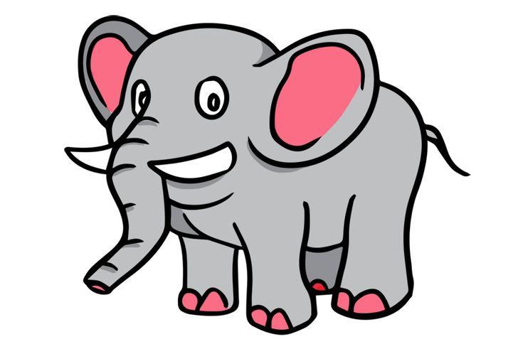 gambar kartun gajah | Gambar Mewarnai | Pinterest