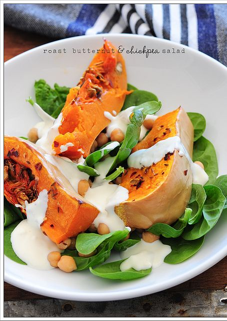warm salad of chickpeas & roast butternut squash by jules:stonesoup ...
