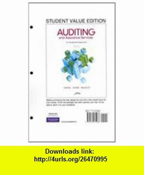 Auditing and Assurance Services, Student Value Edition (14th Edition ...