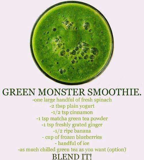 Green Monster Smoothie | health | Pinterest