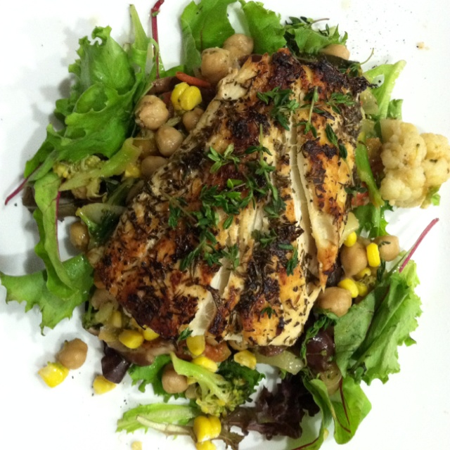 Yum! Yum! Halibut, marinated with herbs of Provençal, some lemon and ...