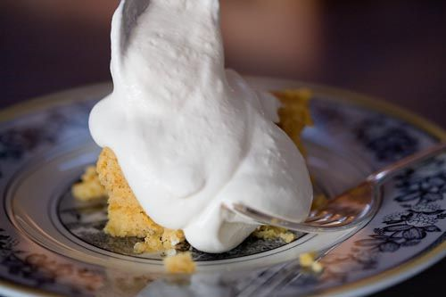 Pumpkin Cake with Whiskey Whipped Cream (yes, there is cake under the ...