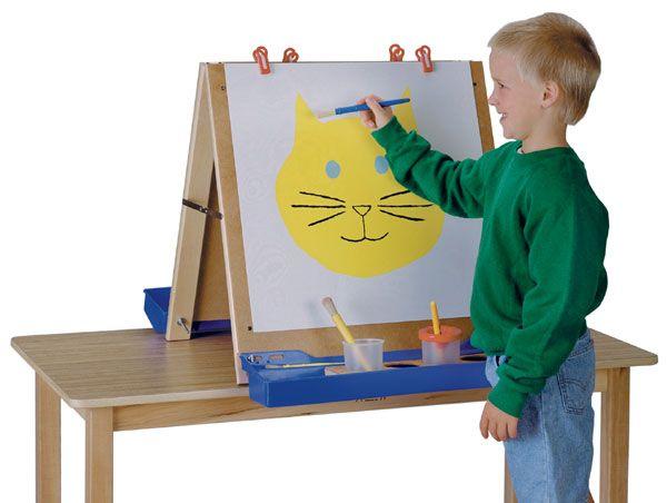 children 39 s tabletop easel diy kids crafts decor pinterest. Black Bedroom Furniture Sets. Home Design Ideas
