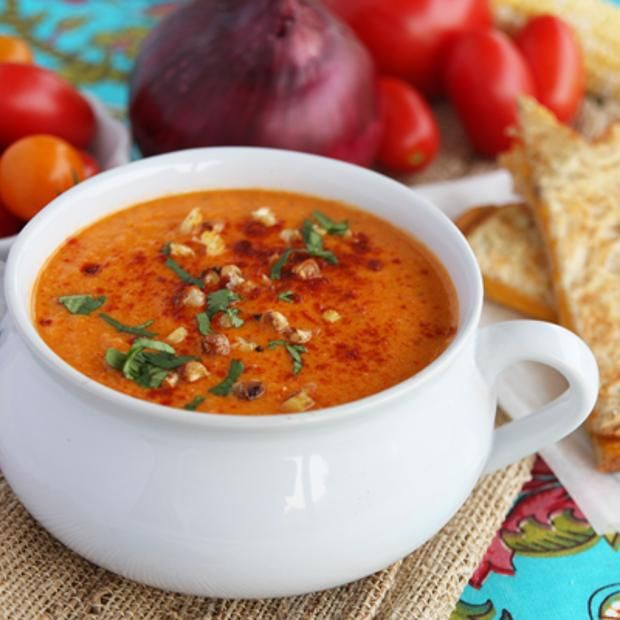 Roasted Sweet Corn And Tomato Soup | Foodcurious! | Pinterest