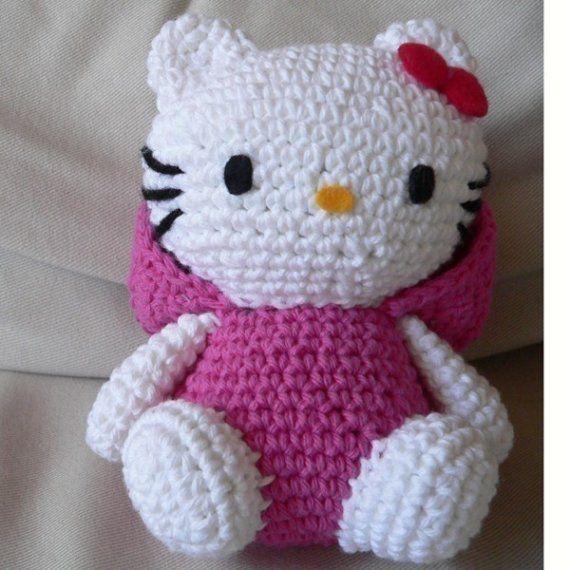 Crochet Pattern Minnie Mouse Doll : Amigurumi Snake animal baby Hello Kitty Doll Crochet ...