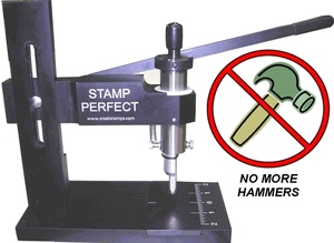Stamp perfect hand stamp machine jewelry supplies wish for Metal stamping press for jewelry