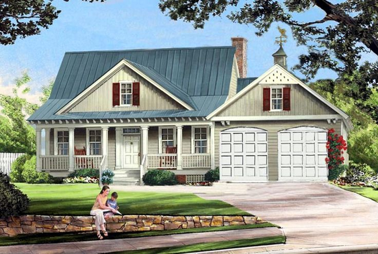 Cottage Country Farmhouse House Plan 86341