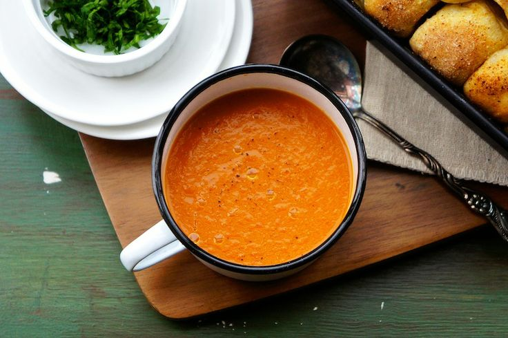 Roasted Vegetable Soup by seasaltwithfood #Soup #Roasted_Vegetable