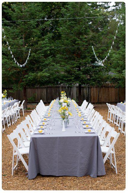 Backyard Wedding Ideas For Spring : Spring Backyard Wedding  Cute Wedding Themes and Ideas  Photos by