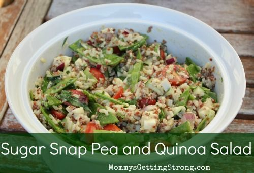 Sugar Snap Pea and Quinoa Salad | Recipes to Try | Pinterest