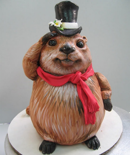 Groundhog cake | Cake's too pretty to eat!! | Pinterest