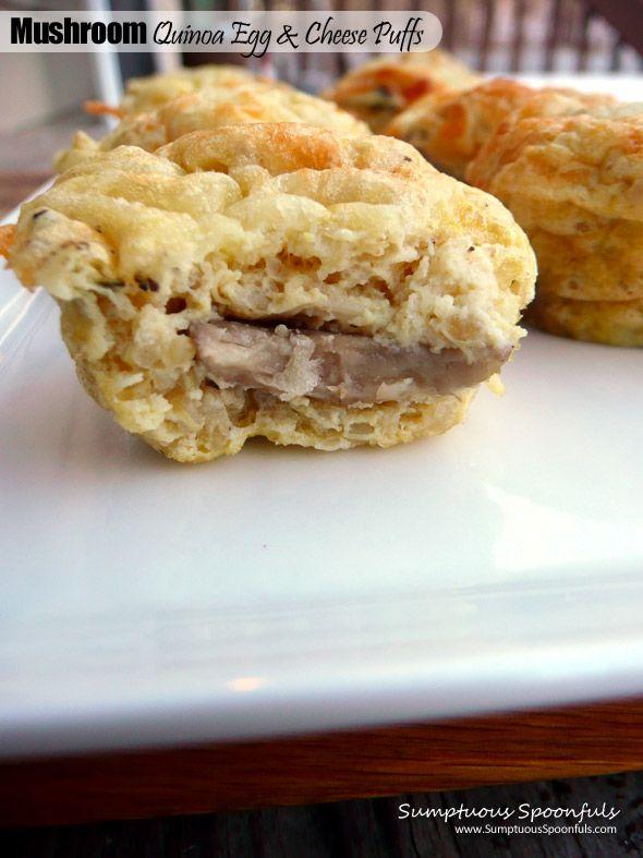 Mushroom Quinoa Egg & Cheese Puffs | Recipe