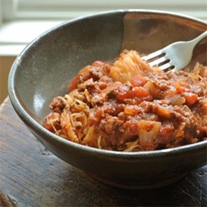 Spaghetti Squash with Meat Sauce | Mmmm....Dinner | Pinterest