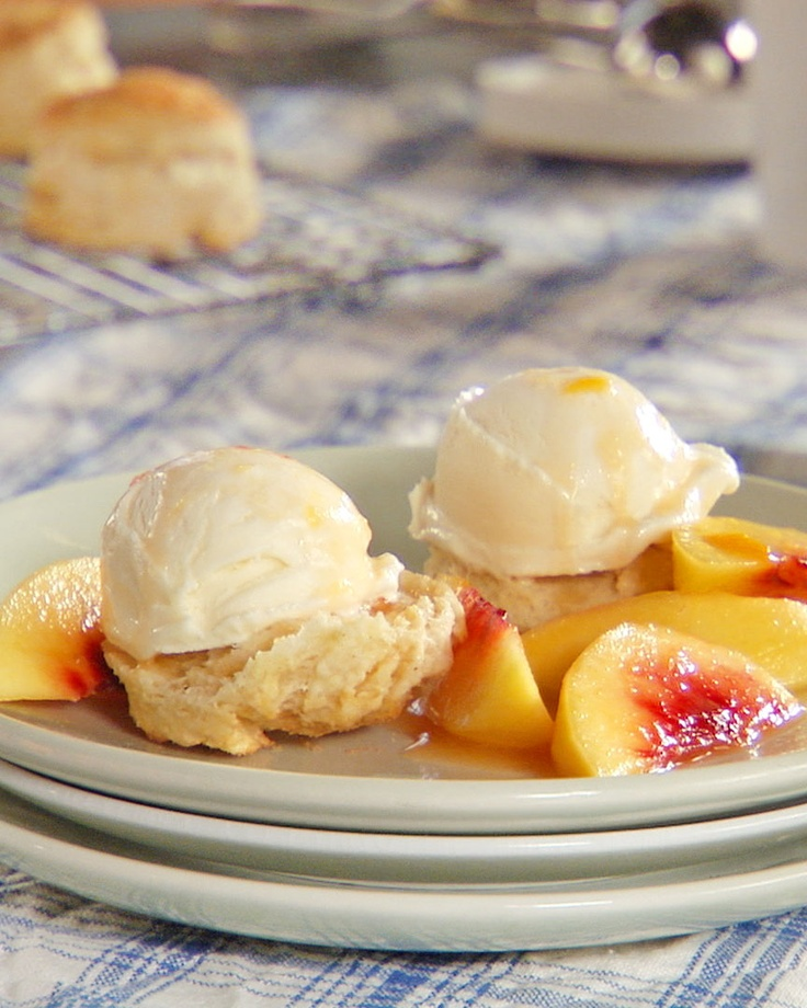 Peach Shortcake - Martha Stewart Recipes | SWEETIE PIE | Pinterest