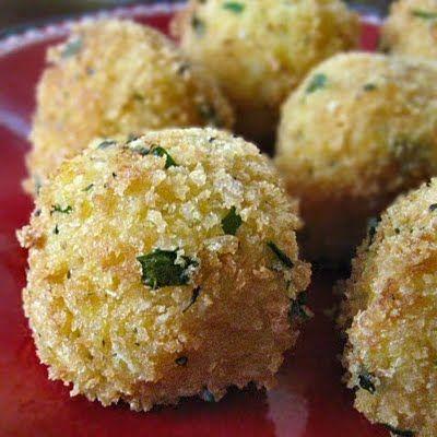 risotto balls | Baby K's polka dot shower theme | Pinterest