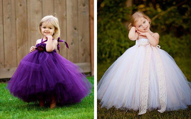 Платье с фатина детское своими руками