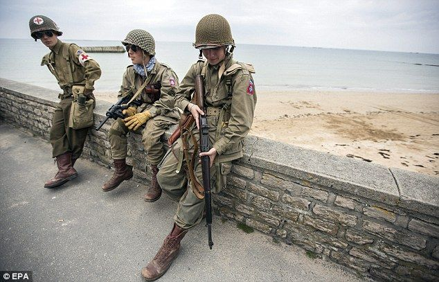 d-day beach site