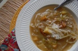 ... Cabbage Soup http://www.thesisterscafe.com/2011/11/rustic-cabbage-soup