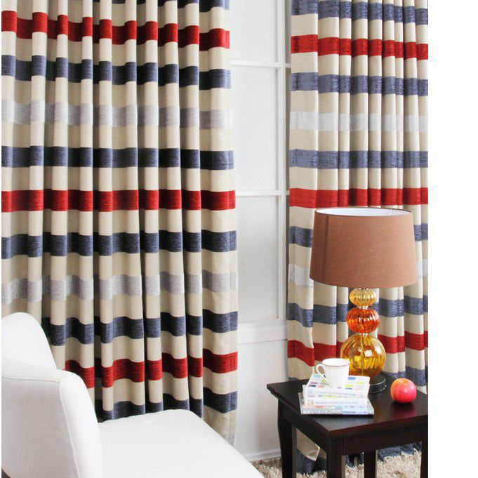 Striped panels little boy rooms pinterest - Curtains for boy toddler room ...