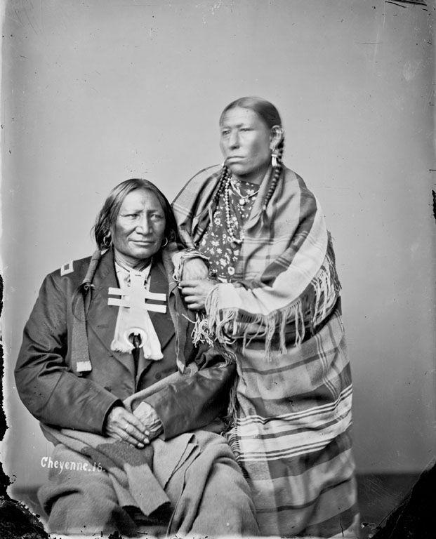 Stone Calf and wife – Southern Cheyenne – 1871