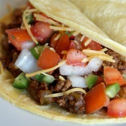 Lighter Ground Beef Tacos | recipes - mexican foods | Pinterest