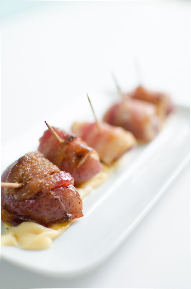 whhaaa?! bacon wrapped potatoes! #favorite #partyfood #appetizer