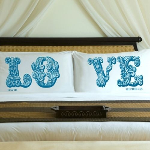 Personalised Wedding Gifts Pillow Cases : Personalized LOVE Design Pillow Cases Wedding Anniversary Pillowcases ...
