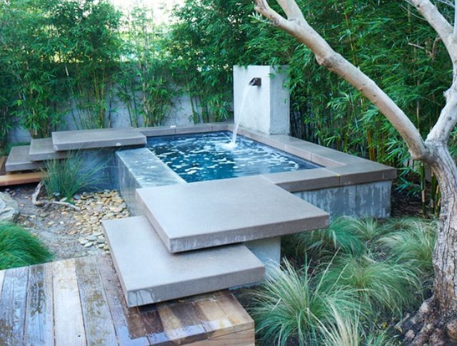 Very small garden pool pool pinterest for Pool with garden