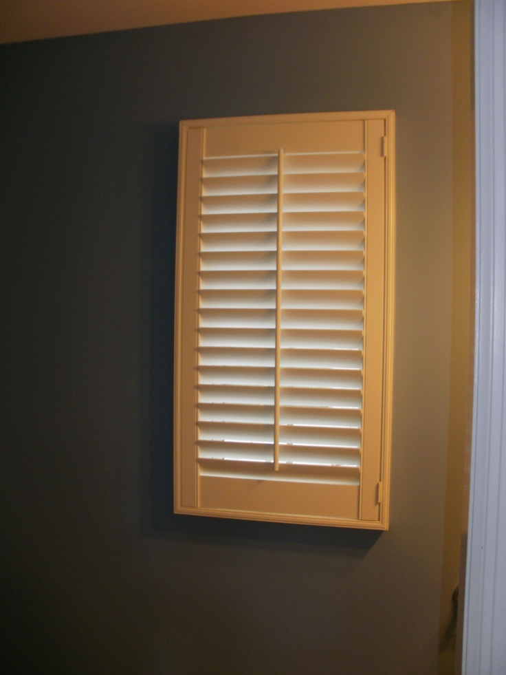 Single panel shutter beautiful window treatments from for 1 single window