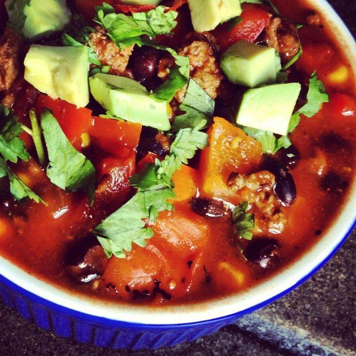 Beef Chili with Black Beans | thelemonbowl.com | #chili #groundbeef # ...