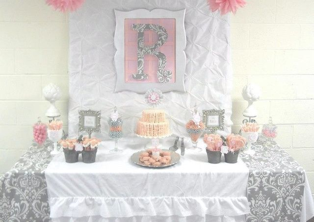 of 29 pink grey damask baby shower baby shower sip amp see pink gray