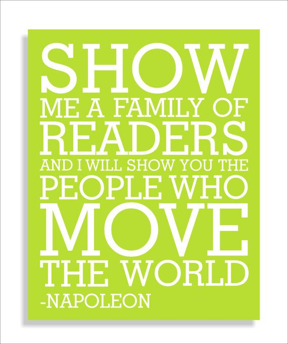 Read Quote Napoleon Modern Art Print Typography by FieldandFlower, $12.00