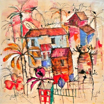 Tableau deco art contemporain madagascar le madagascar for Tableau art contemporain