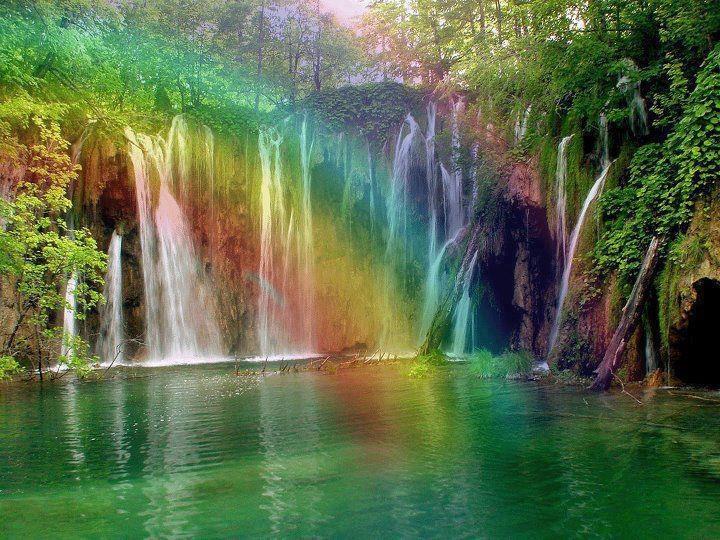 Rainbow waterfall | Seasons are cycle of life | Pinterest