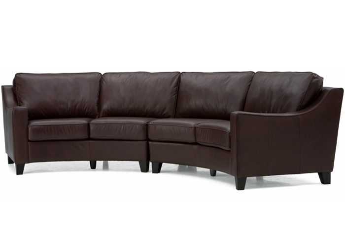 curved sofa leather jonathan sectional curved sectional sofa in chestnut leather contempo